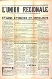 Union Regionale (L') N°1098 du 14/09/1939 - Couverture - Format classique