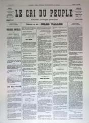 Cri Du Peuple (Le) N°44 du 14/04/1871 - Couverture - Format classique