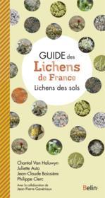 Guide des lichens de France ; lichens du sol - Couverture - Format classique