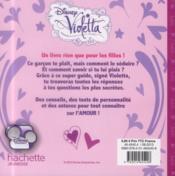 Violetta ; secrets de filles ; spécial amour - 4ème de couverture - Format classique
