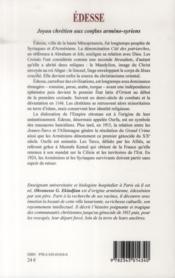 Edesse, joyau chrétien aux confins arméno-syriens - 4ème de couverture - Format classique