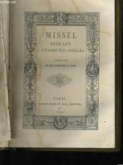 Missel Romain A L'Usage Des Fideles N°1 - Couverture - Format classique