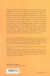 Enseigner La Poesie Au Lycee - 4ème de couverture - Format classique