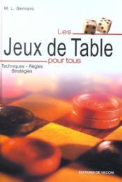Jeux De Table Pour Tous (Les) - Couverture - Format classique