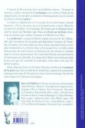Blaise Pascal Penseur De La Grace - 4ème de couverture - Format classique