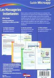 Les messageries instantanees - 4ème de couverture - Format classique