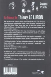 La france de thierry le luron - 4ème de couverture - Format classique
