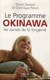 Le Programme Okinawa, Les Secrets De La Longevite - Couverture - Format classique