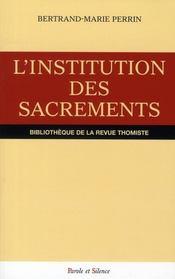 Institution des sacrements - Intérieur - Format classique