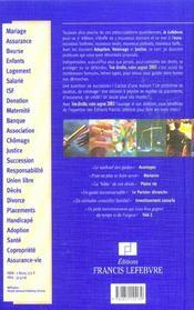 Vos droits votre argent 2003 - 4ème de couverture - Format classique