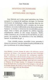 Nouveau Dictionnaire De La Mythologie Celtique - 4ème de couverture - Format classique