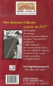 La cote de l'automobile de collection (édition 2007) - 4ème de couverture - Format classique