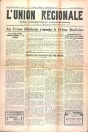 Union Regionale (L') N°1099 du 21/09/1939 - Couverture - Format classique