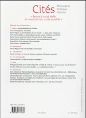 Revue Cites N.65 - 4ème de couverture - Format classique