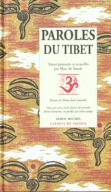 Vente livre :  Paroles du Tibet  - Marc De Smedt