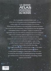 Le Grand Atlas Geographique Et Encyclopedique Du Monde - 4ème de couverture - Format classique