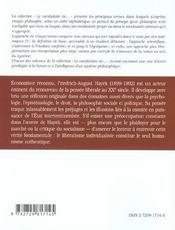 Hayek - 4ème de couverture - Format classique