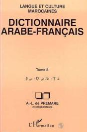 Dictionnaire arabe/français t.8 - Couverture - Format classique
