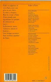 Fahri A Paris - 4ème de couverture - Format classique