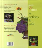 Faire et offrir les confitures du jardin - 4ème de couverture - Format classique