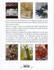Table Decoree,pliage De Serviette - 4ème de couverture - Format classique