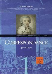 Correspondance t.1 et t.2 ; 1774-1776 et 1777-1779 - 4ème de couverture - Format classique