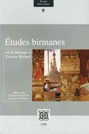 Études birmanes en hommage à Denise Bernot - Intérieur - Format classique