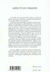 Aspects Du Paradis - 4ème de couverture - Format classique