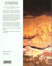 Les civilisations de la prehistoire homo sapiens - 4ème de couverture - Format classique