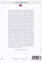 Architecture Du Xviiie Siecle (L') - 4ème de couverture - Format classique