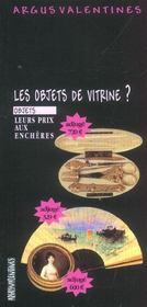 Les Objets De Vitrine - Intérieur - Format classique