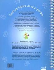 Construire L'Estime De Soi A L'Ecole Primaire C1-V2 : Pristi De La Connaissance De Soi A L'Identite - 4ème de couverture - Format classique