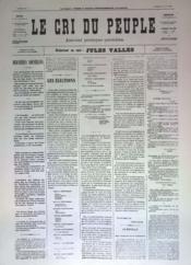 Cri Du Peuple (Le) N°46 du 16/04/1871 - Couverture - Format classique