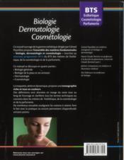 Biologie-dermatologie-cosmétologie ; BTS esthétique-cosmétologie-parfumerie - 4ème de couverture - Format classique