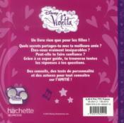 Violetta ; secrets de filles ; spécial amitié - 4ème de couverture - Format classique