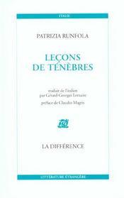 Lecons De Tenebres - Intérieur - Format classique