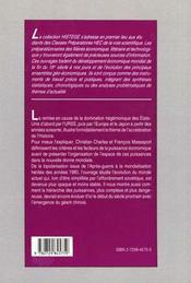 La Hierarchie Des Puissances Economiques Depuis 1945 - 4ème de couverture - Format classique