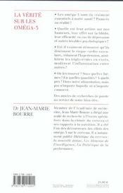 La Verite Sur Les Omega-3 - 4ème de couverture - Format classique