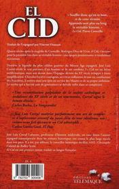 El Cid - 4ème de couverture - Format classique