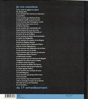 Je Me Souviens Du 17eme Arrondissement 2e Edition - 4ème de couverture - Format classique