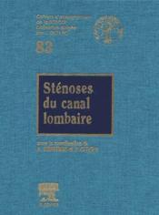 Sténoses du canal lombaire - Couverture - Format classique
