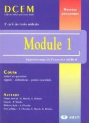 Module 1 ; apprentissage de l'exercice médical - Couverture - Format classique