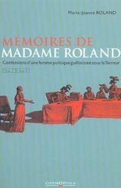 Memoires De Madame Roland - Intérieur - Format classique