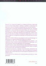Dialectique Mise En Oeuvre - 4ème de couverture - Format classique