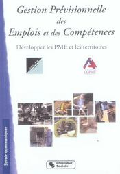 Gestion previsionnelle des emplois et des competences ; developper les pme et les territoires - Intérieur - Format classique