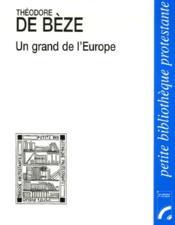 Un grand de l'Europe - Couverture - Format classique