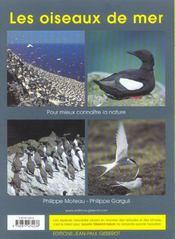 Les oiseaux de mer - 4ème de couverture - Format classique