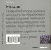 Le Guide De L'Architecture Contemporaine De Moscou - 4ème de couverture - Format classique