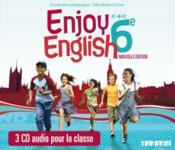 Vente livre :  ENJOY ENGLISH IN ; 6ème ; CD de la classe (édition 2011)  - Odile Martin-Cocher