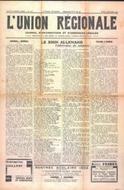 Union Regionale (L') N°1101 du 05/10/1939 - Couverture - Format classique